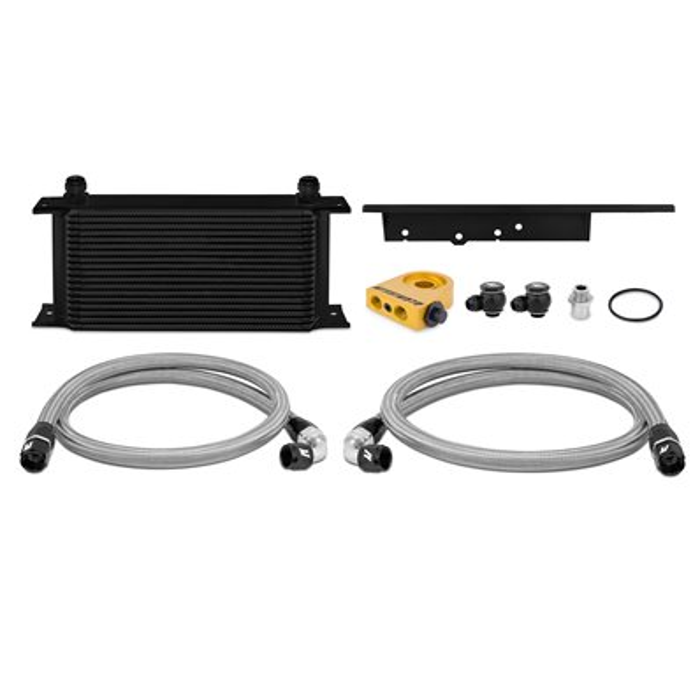 Kit radiador de aceite termostático Nissan 350Z / 03-07 Infiniti G35 (Coupe solamente) 03-09 Negro