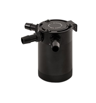 Mishimoto Compact Baffled Oil Catch Can, 3-Puertos, Negro