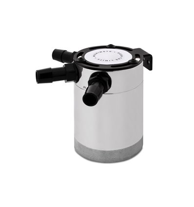 Mishimoto Compact Baffled Oil Catch Can, 3-Puertos, Pulido