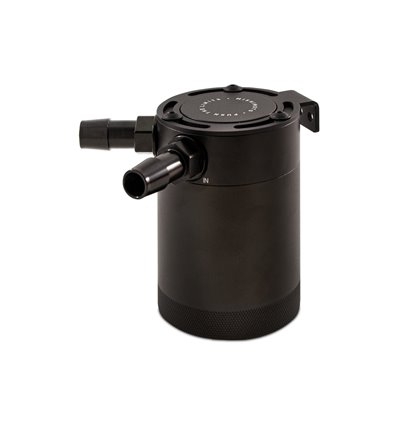 Mishimoto Compact Baffled Oil Catch Can, 2-Puertos, Negro